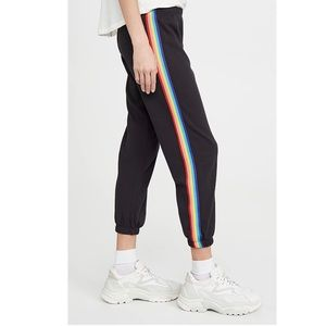 Spiritual Gangster perfect sweatpants rainbow trim